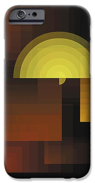 Digital Paintings iPhone Cases - Composition 27 iPhone Case by Terry Reynoldson