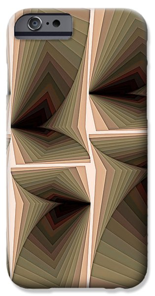 Digital Paintings iPhone Cases - Composition 282 iPhone Case by Terry Reynoldson