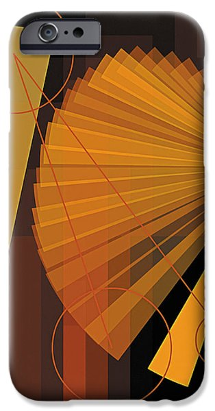 Modern Art iPhone Cases - Composition 39 iPhone Case by Terry Reynoldson