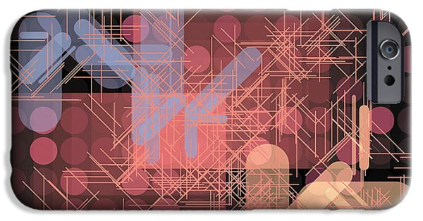 Neo-plasticism iPhone Cases - Composition 42 iPhone Case by Terry Reynoldson