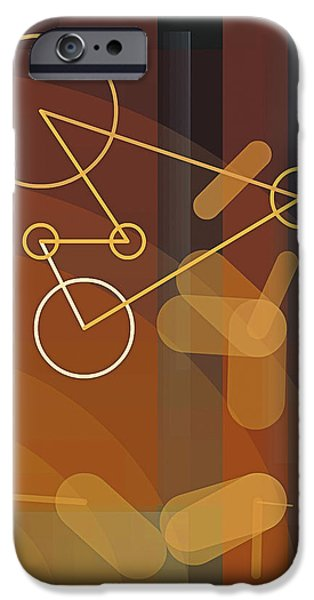 Neo-plasticism iPhone Cases - Composition 50 iPhone Case by Terry Reynoldson