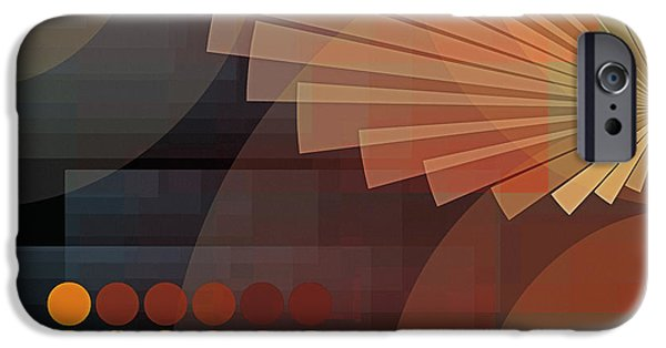Non-objective iPhone Cases - Composition 51 iPhone Case by Terry Reynoldson