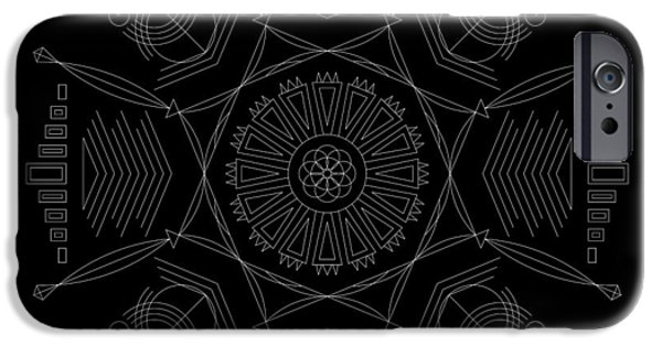 Hieroglyph iPhone Cases - Compression Inverse iPhone Case by DB Artist