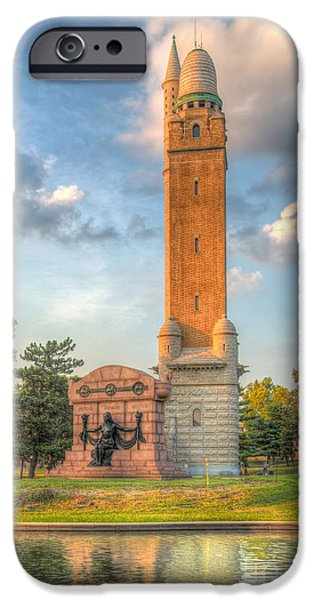 iPhone Cases - Compton Hill Water Tower iPhone Case by Anne Warfield