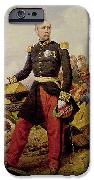 Politician iPhone Cases - Comte Maurice De Macmahon 1808-93, 1860 Oil On Canvas iPhone Case by Emile Jean Horace Vernet