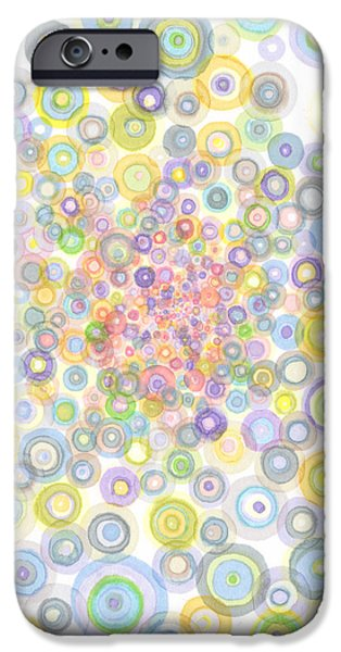 Disc Drawings iPhone Cases - Concavity iPhone Case by Regina Valluzzi