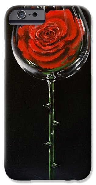 Wine Art Paining iPhone Cases - Conceal iPhone Case by Ksusha Scott