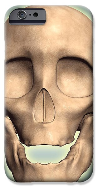 Conceptual Image Of Human Skull, Front iPhone Case by Stocktrek Images