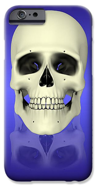 Conceptual View Of Human Skull iPhone Case by Stocktrek Images