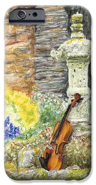 Organic Pastels iPhone Cases - Concert dans le Jardin iPhone Case by Kate Sumners