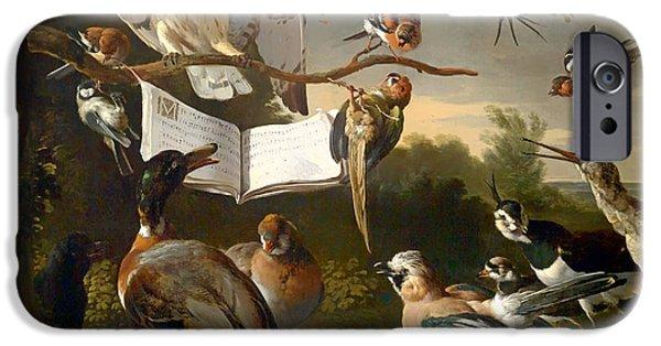 Birds On Limbs iPhone Cases - Concert of Birds iPhone Case by Hondecoeter