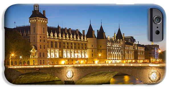 Infamous iPhone Cases - Conciergerie Twilight - River Seine iPhone Case by Brian Jannsen