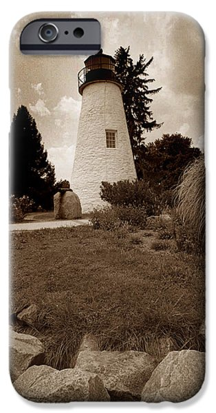 Concord iPhone Cases - Concord Point Lighthouse iPhone Case by Skip Willits
