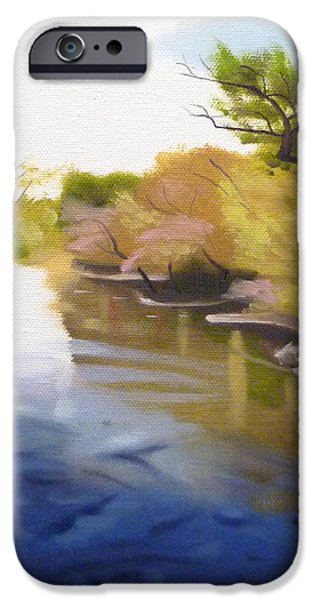 Concord Ma. iPhone Cases - Concord River iPhone Case by JJ Long