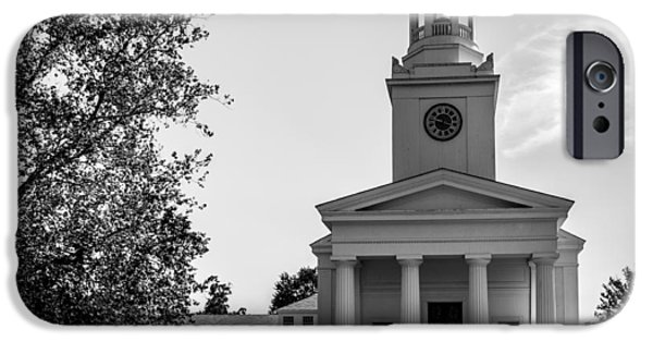 Concord Massachusetts iPhone Cases - Concord White Curch iPhone Case by Ovidiu Rimboaca