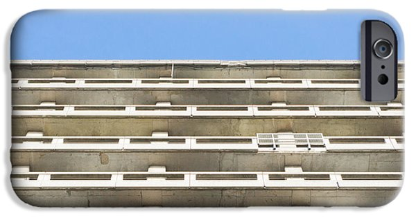 Balcony iPhone Cases - Concrete building iPhone Case by Tom Gowanlock