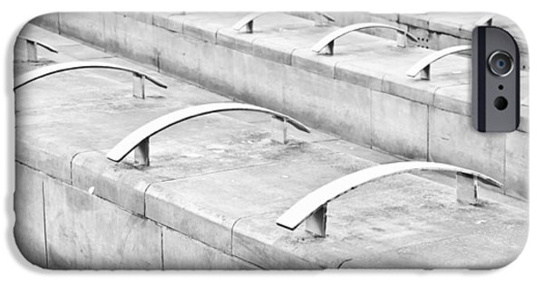 Slate Pattern iPhone Cases - Concrete seating iPhone Case by Tom Gowanlock