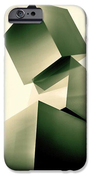Condescending Cubes iPhone Case by Bob Orsillo