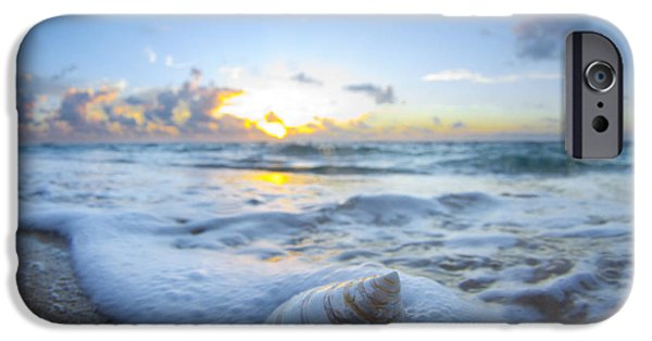 Seascapes iPhone Cases - Cone Shell Foam iPhone Case by Sean Davey