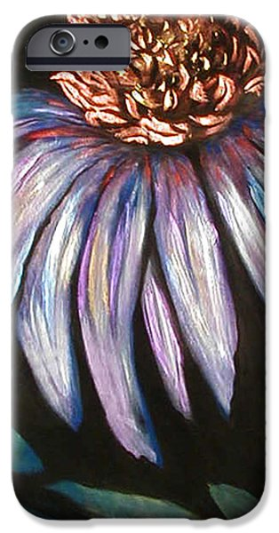 Abstracted Coneflowers Paintings iPhone Cases - Coneflower Painting iPhone Case by Art By Lisabelle