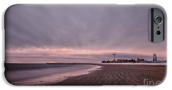 York Beach iPhone Cases - Coney Island Bound iPhone Case by Evelina Kremsdorf