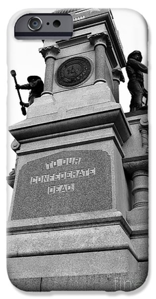 Statue Of Confederate Soldier iPhone Cases - Confederate Monument iPhone Case by Robert Yaeger