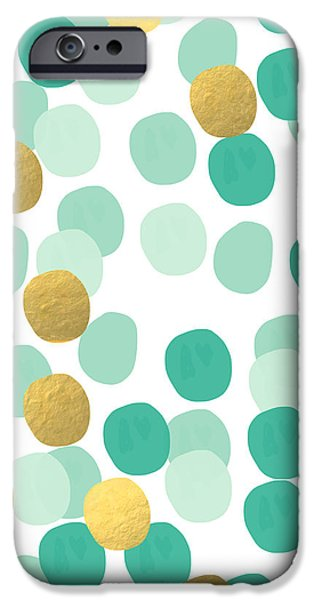 Contemporary Abstract iPhone Cases - Confetti 2- abstract art iPhone Case by Linda Woods