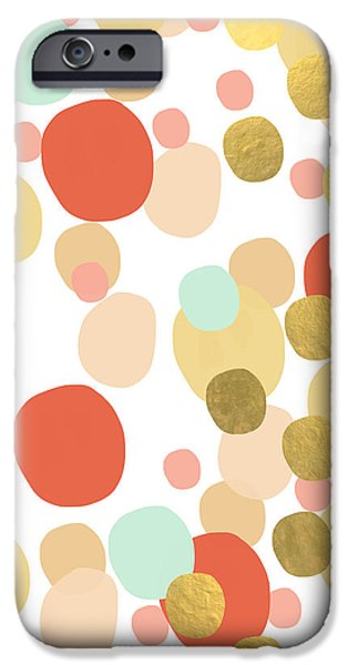 Shape Mixed Media iPhone Cases - Confetti- abstract art iPhone Case by Linda Woods