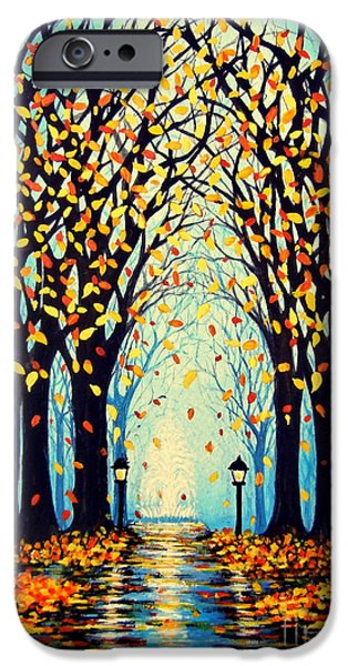 Night Lamp Paintings iPhone Cases - Confetti iPhone Case by Janine Riley