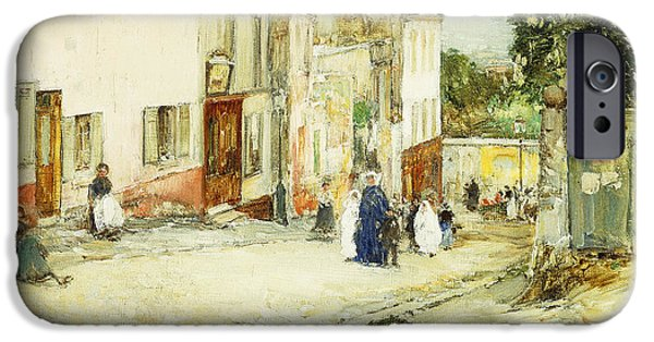 Thoroughfare iPhone Cases - Confirmation Day iPhone Case by Childe Hassam