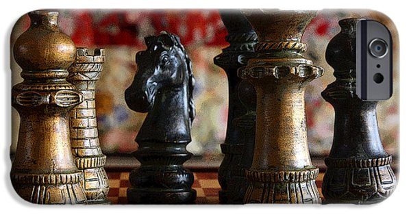 Chess Queen iPhone Cases - Confrontation iPhone Case by Joe Kozlowski