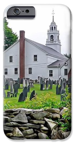 Congregational Church Cemetery Hollis NH iPhone Case by Janice Drew