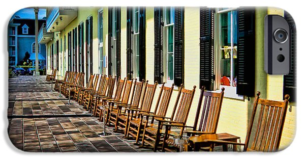 Rocking Chairs Photographs iPhone Cases - Congress Hall Rockers iPhone Case by Colleen Kammerer