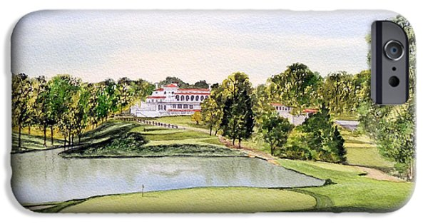 Recently Sold -  - The Tiger iPhone Cases - Congressional Golf Course 10Th Hole iPhone Case by Bill Holkham