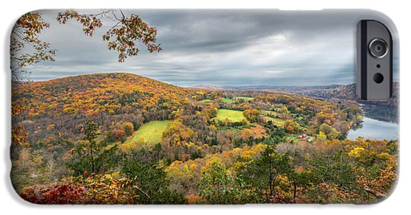 Litchfield County Landscape iPhone Cases - Connecticut Country iPhone Case by Bill  Wakeley