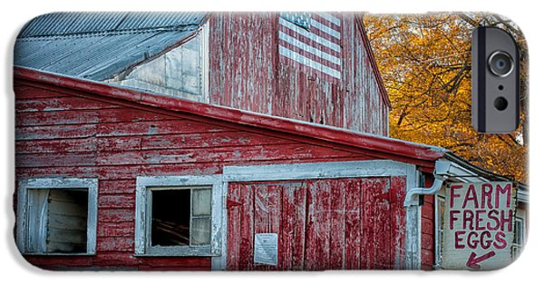 Farmstand iPhone Cases - Connecticut Farmstand iPhone Case by Thomas Schoeller