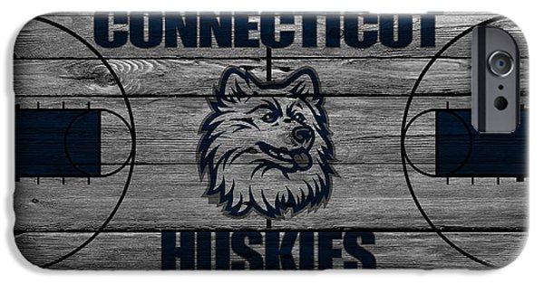 Husky iPhone Cases - Connecticut Huskies iPhone Case by Joe Hamilton