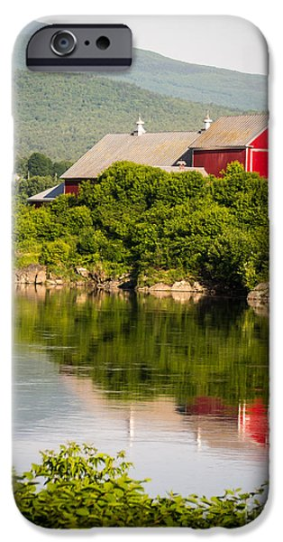 Nature Scene iPhone Cases - Connecticut River Farm iPhone Case by Edward Fielding