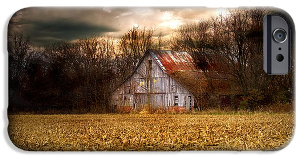 Old Barns iPhone Cases - Conner Farm iPhone Case by Virginia Folkman