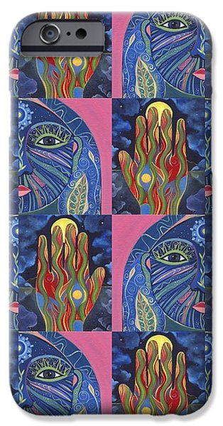 Serpent Mixed Media iPhone Cases - Constant Flow 1 iPhone Case by Helena Tiainen