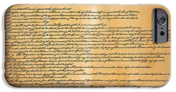 Constitution iPhone Cases - Constitution, 1787 iPhone Case by Granger