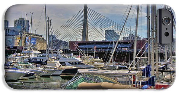 Constitution iPhone Cases - Constitution Marina and the Zakim iPhone Case by Joann Vitali