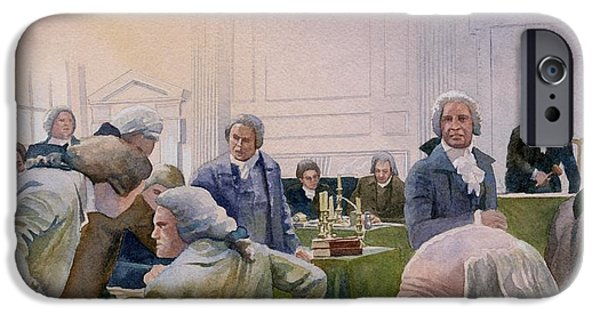 Franklin iPhone Cases - Constitutional Convention iPhone Case by Rob Wood