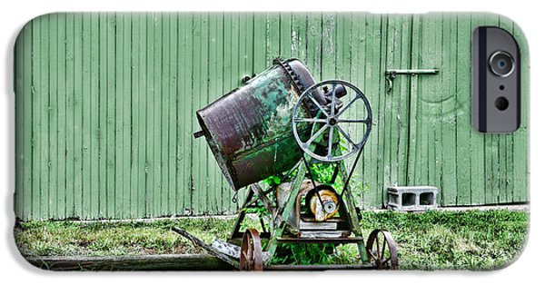 Laborers iPhone Cases - Construction - Cement Mixer iPhone Case by Paul Ward
