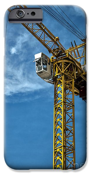 construction crane asia iPhone Case by Antony McAulay