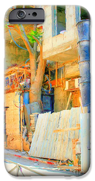 Buildings Mixed Media iPhone Cases - Construction iPhone Case by Michael Braham