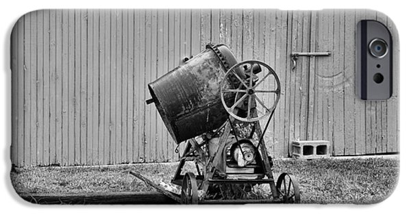 Laborers iPhone Cases - Construction - Vintage Cement Mixer iPhone Case by Paul Ward