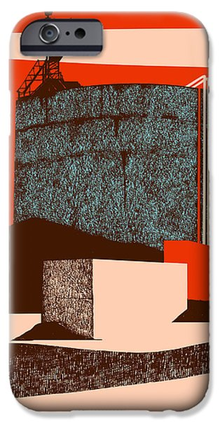 Contemporary Art Drawings iPhone Cases - Container iPhone Case by Eliza Southwood