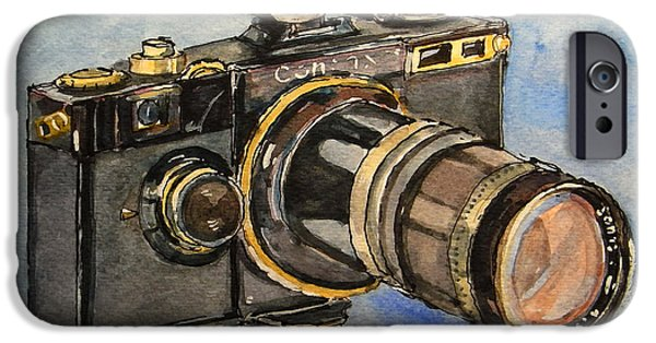Photo Paintings iPhone Cases - Contax I iPhone Case by Juan  Bosco