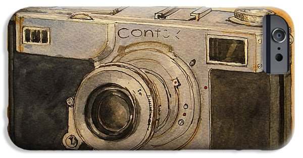 Photo Paintings iPhone Cases - Contax II iPhone Case by Juan  Bosco